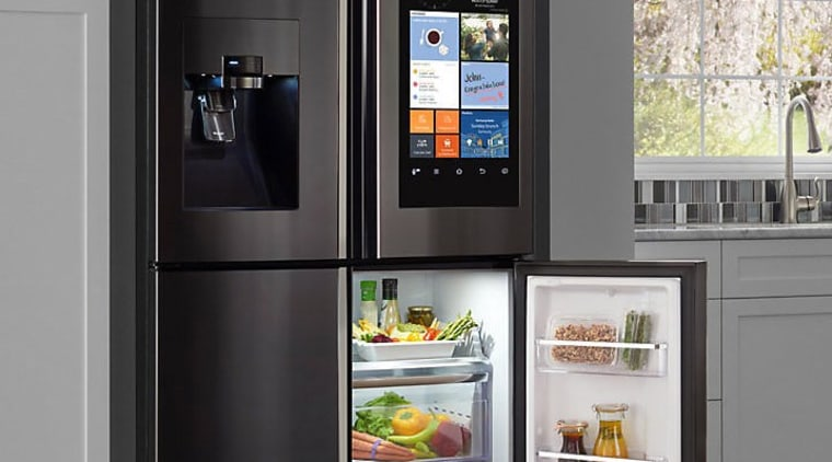 Learn more here home appliance, kitchen appliance, major appliance, product, refrigerator, shelving, black, gray