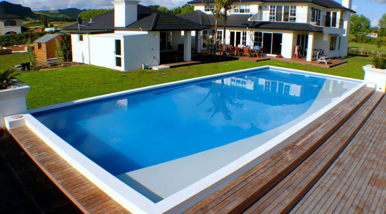 Gold Award recipient for Residential Swimming Pools over estate, home, house, leisure, property, real estate, resort, swimming pool, villa, teal