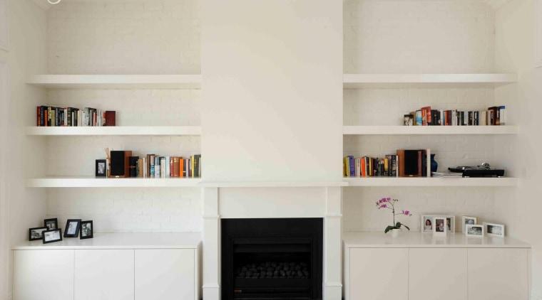 dsc 0073 2.jpg bookcase, floor, furniture, hearth, interior design, living room, shelf, shelving, gray