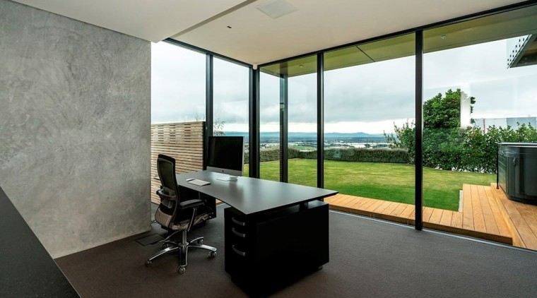Registered Master Builders – House of the Year architecture, daylighting, floor, house, interior design, office, property, real estate, window, gray, black