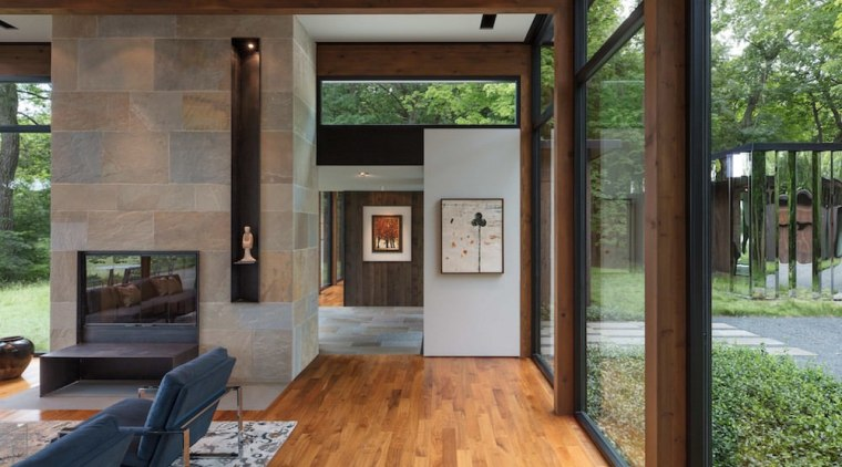 The so-called 'mystery object' reflects the natural surroundings architecture, floor, flooring, house, interior design, real estate, window, gray, brown