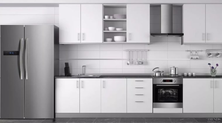 Midea: The brand you need to consider for cabinetry, countertop, cuisine classique, home appliance, interior design, kitchen, kitchen appliance, kitchen stove, major appliance, product, product design, refrigerator, white, gray