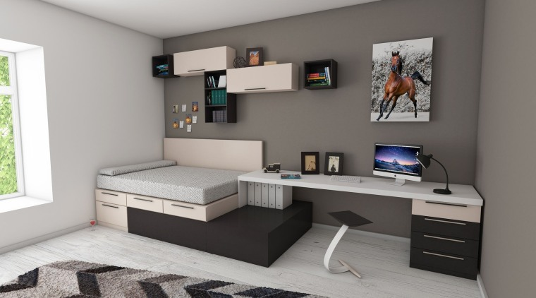 Furniture can make all the difference in a desk, furniture, interior design, product, room, gray