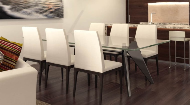 Interior chair, floor, flooring, furniture, hardwood, home, interior design, room, table, white, black