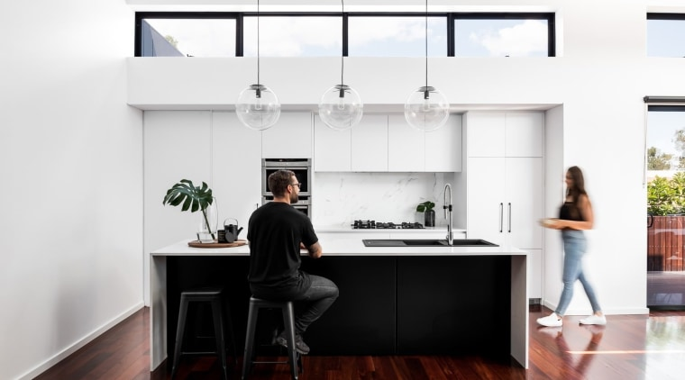 TIDA AU 2017 – Designer renovation winner – desk, furniture, house, interior design, kitchen, office, product design, white