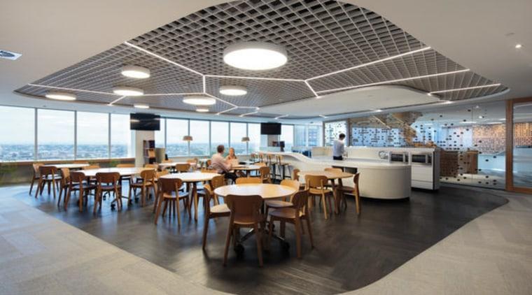 icare – dwp | design worldwide partnership ceiling, interior design, restaurant, gray