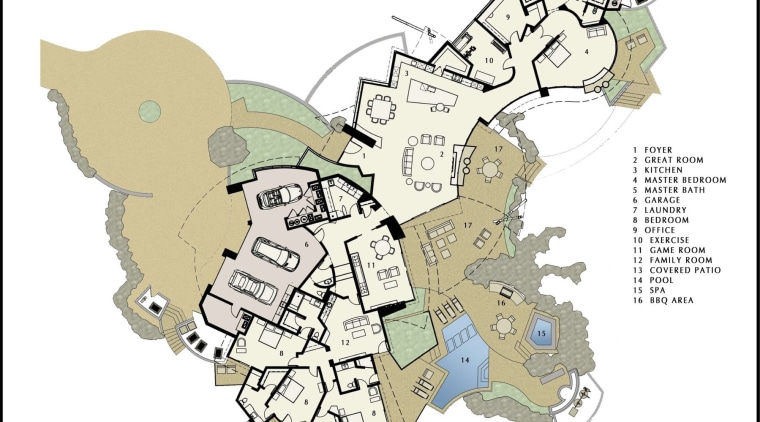An overview of the property area, floor plan, map, plan, white