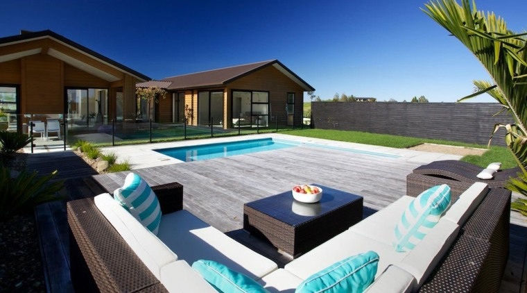 Double Gold Award recipient for Residential Swimming Pools estate, home, house, leisure, property, real estate, resort, swimming pool, villa, blue