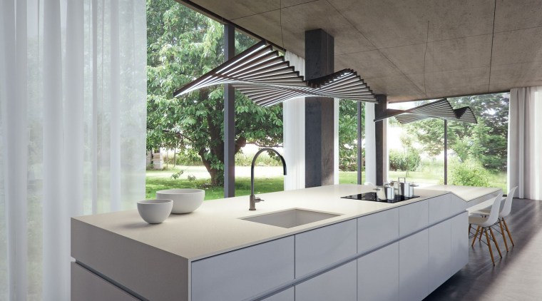 A delicate and clean modern industrial appearance of architecture, daylighting, house, interior design, gray