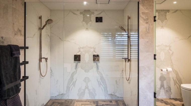 TIDA NZ 2017 – Designer bathroom winner – bathroom, ceiling, floor, flooring, home, interior design, room, tile, wall, gray