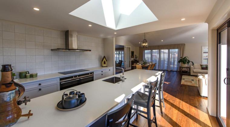The kitchen countertop, interior design, kitchen, property, real estate, room, gray