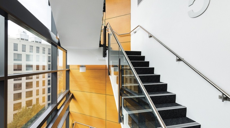 Newcastle Courthouse – Cox Architecture architecture, building, daylighting, glass, handrail, house, interior design, stairs, gray, white