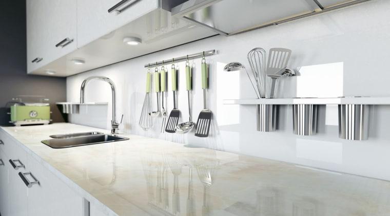 Dekton countertop, interior design, kitchen, product design, gray, white
