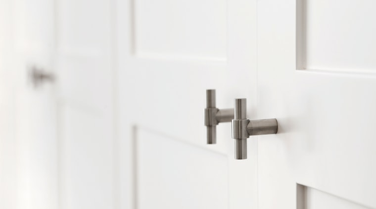 PB14 - Solid Cabinet Knob. Available in Satin hinge, lock, product design, tap, white