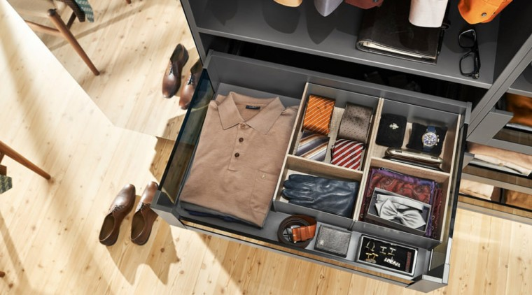 In your bedroom, use LEGRABOX to sort out furniture, table, wood, orange