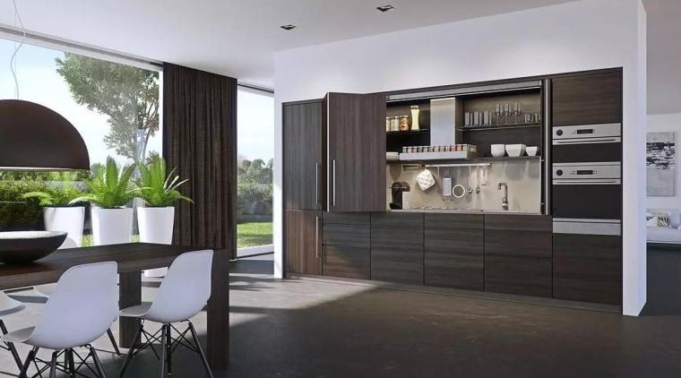 Häfale Hawa-Folding Concepta 25 furniture, interior design, kitchen, living room, gray, black