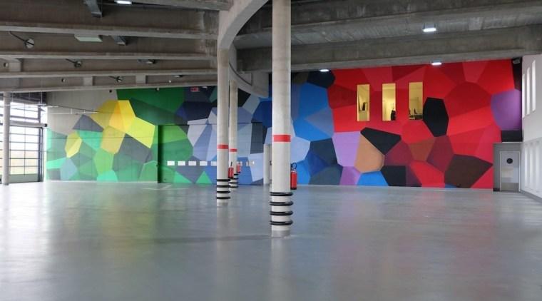 569 firestation art, art gallery, exhibition, floor, modern art, tourist attraction, gray