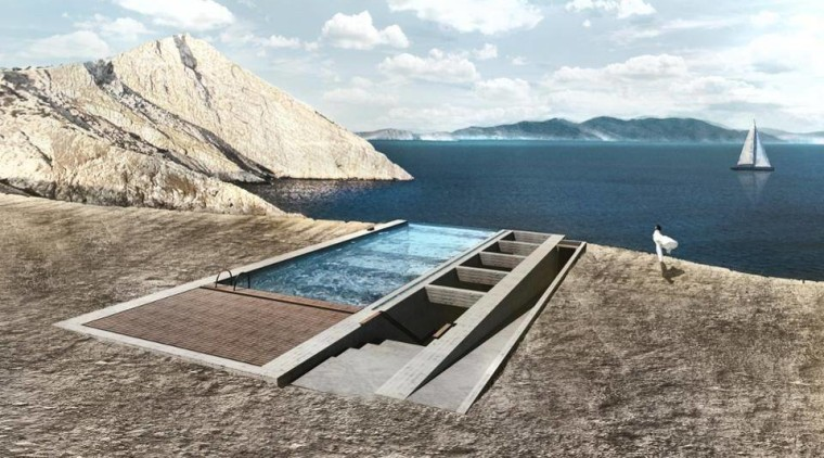Casa Brutale sky, water resources, gray, white