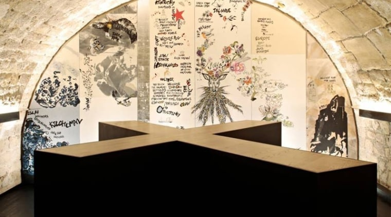 The basement whiskey bar design, exhibition, museum, tourist attraction, orange, black
