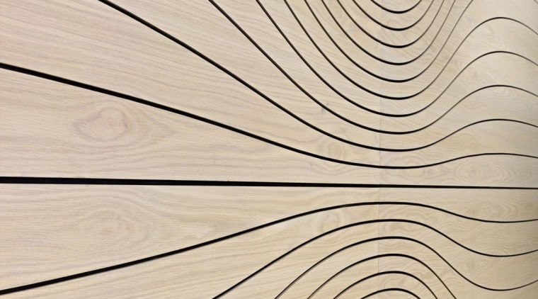 The panels on this wall twist and turn line, pattern, product design, wood, orange