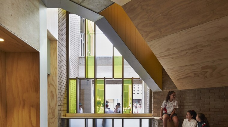 Bunbury Catholic College – Mercy Campus architecture, ceiling, daylighting, floor, house, interior design, lobby, wood, brown, gray