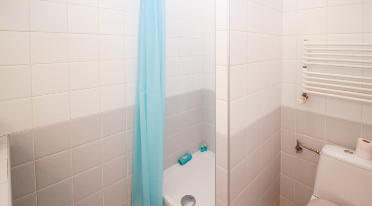 Need to overhaul your student bathroom? bathroom, floor, flooring, plumbing fixture, property, room, tile, white