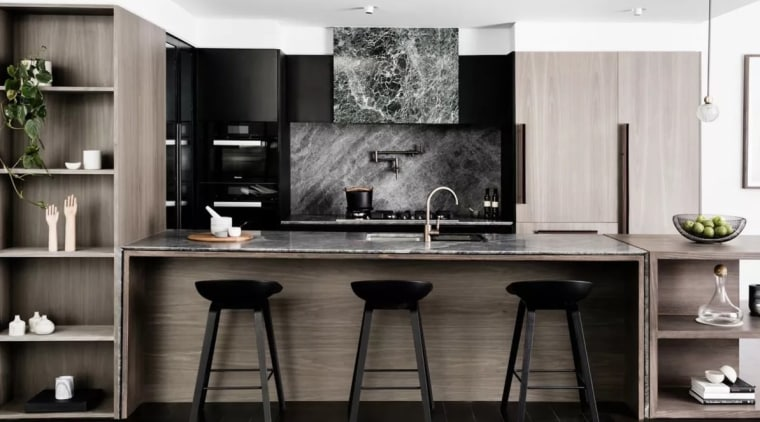 Extractor fans come in a number of types cabinetry, countertop, cuisine classique, interior design, kitchen, room, black, white, gray