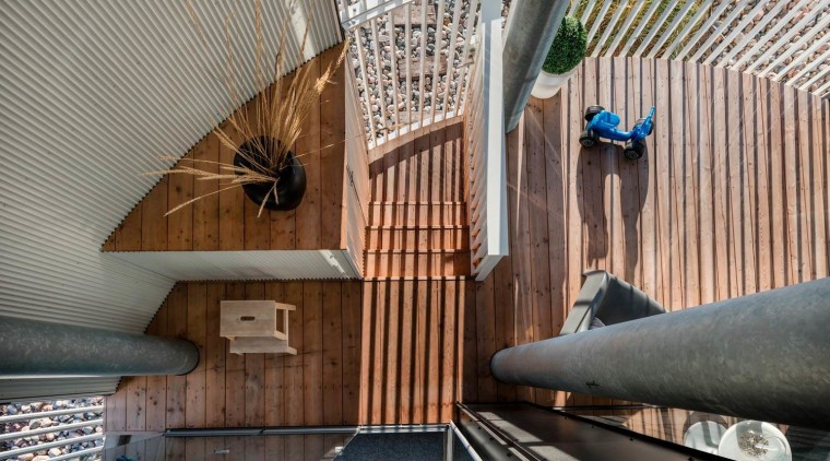 The Tervahovi Silos / PAVE Architects architecture, ceiling, daylighting, interior design, gray