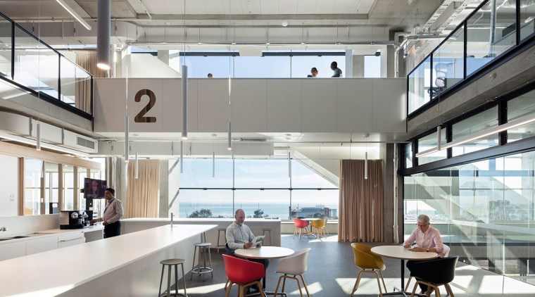 South East Water – Victoria – BVN architecture, ceiling, daylighting, interior design, white, gray