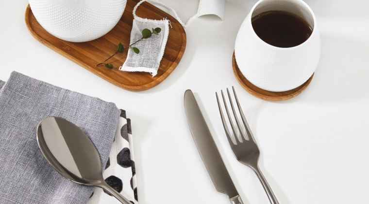 A selection from The Studio of Tableware ceramic, cutlery, fork, product, product design, spoon, tableware, white