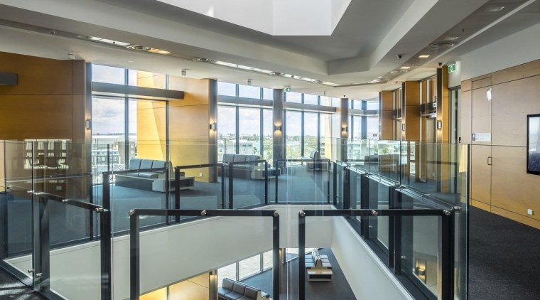 Newcastle Courthouse – Cox Architecture daylighting, glass, interior design, lobby, real estate, gray