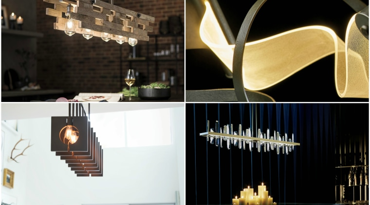 Here are four dramatic designs to consider this ceiling, chandelier, interior design, lamp, lampshade, light fixture, lighting, lighting accessory, product design, black, white