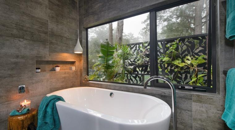TIDA AUS 2017 – Designer bathroom winner – architecture, bathroom, bathtub, estate, home, interior design, property, real estate, room, window, black, gray
