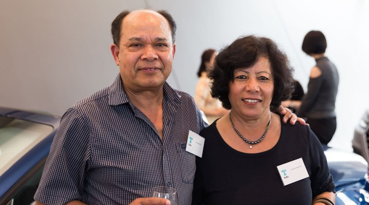 Ram and Shanta Bhattu communication, socialite, gray, black