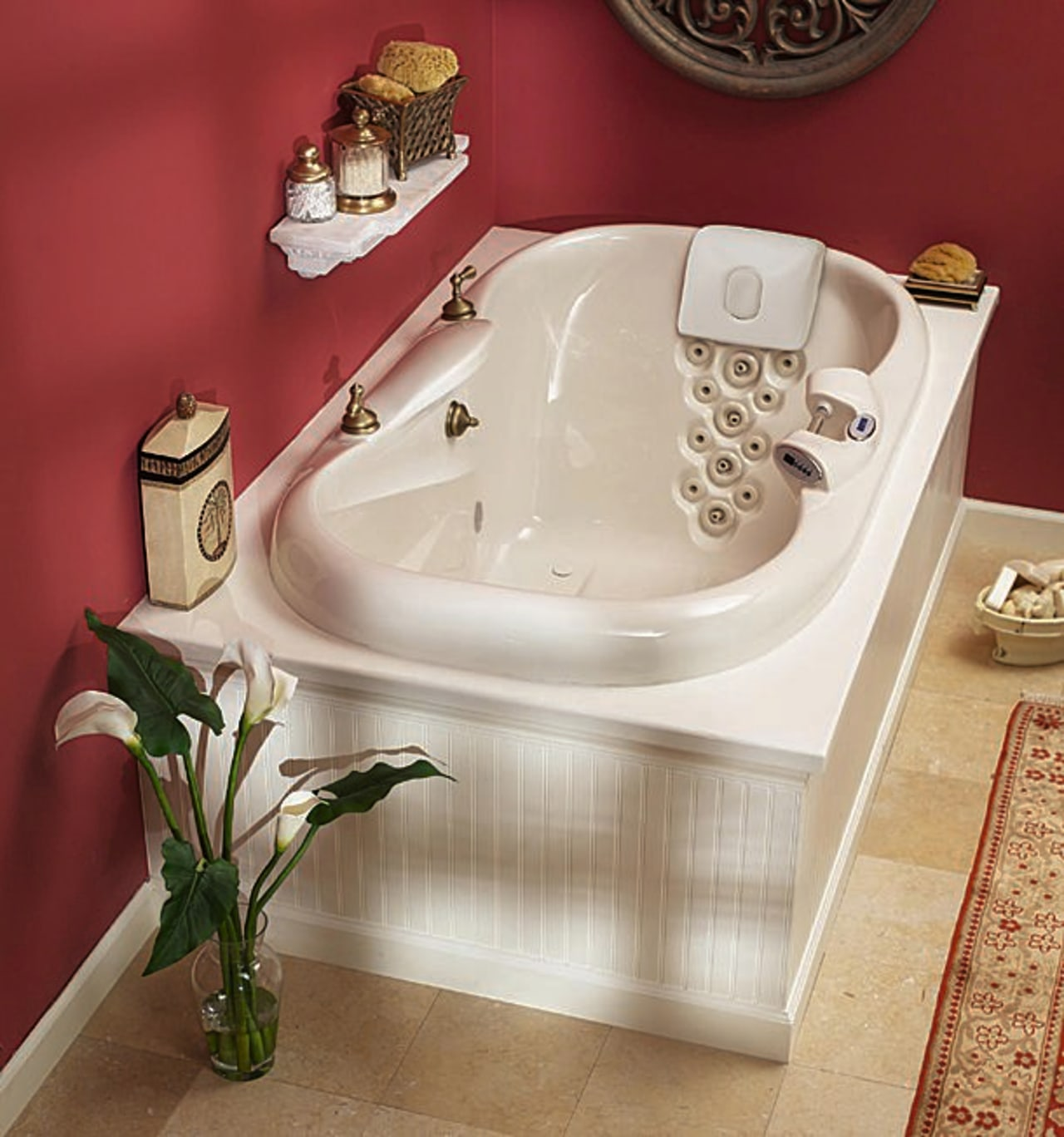 A whirlpool bath bathroom, bathroom sink, bathtub, ceramic, floor, plumbing fixture, product design, sink, tap, toilet seat, red, gray