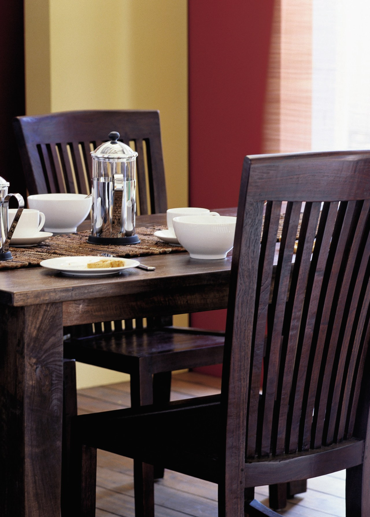 View of the dining furniture chair, dining room, furniture, home, table, wood, black