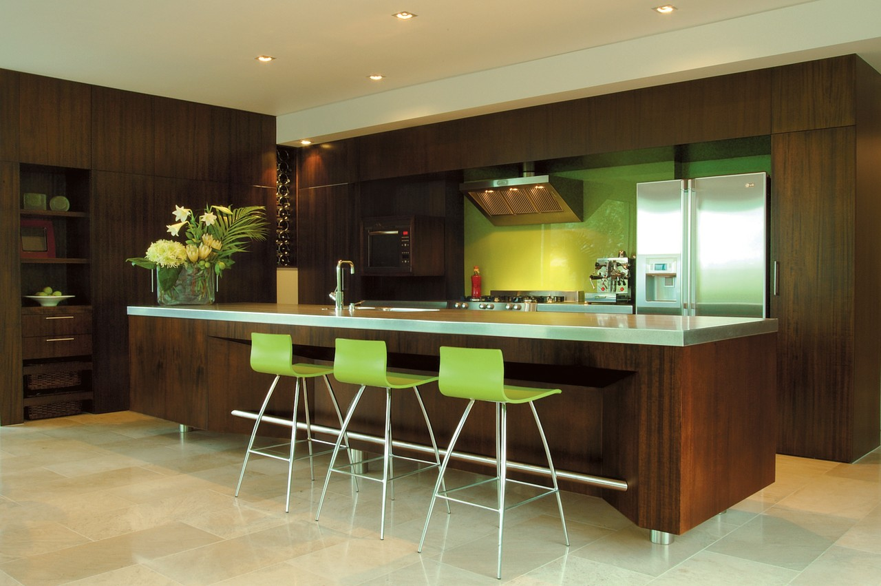 The view of a modern kitchen with an cabinetry, countertop, cuisine classique, interior design, kitchen, room, black