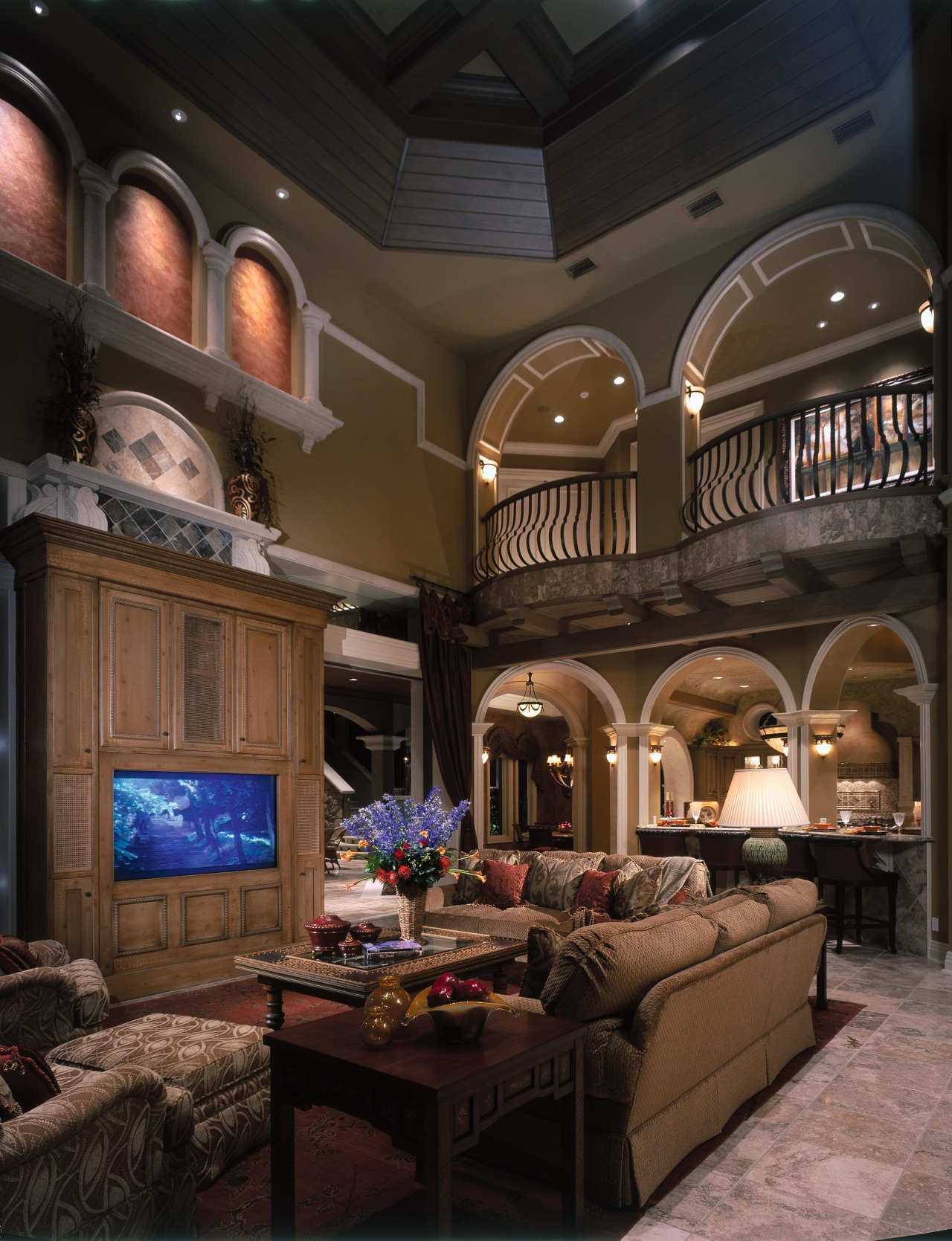 View of the living area ceiling, home, interior design, living room, room, black, brown