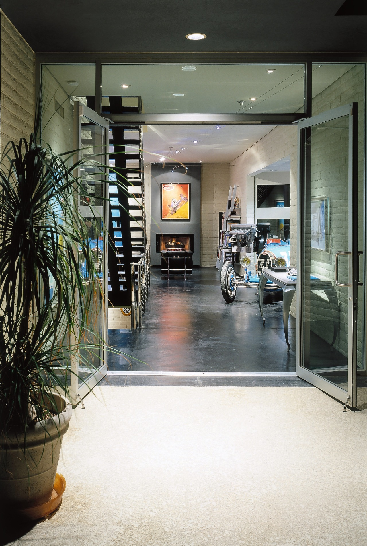 View of the entrance floor, flooring, interior design, lobby, white, black, gray