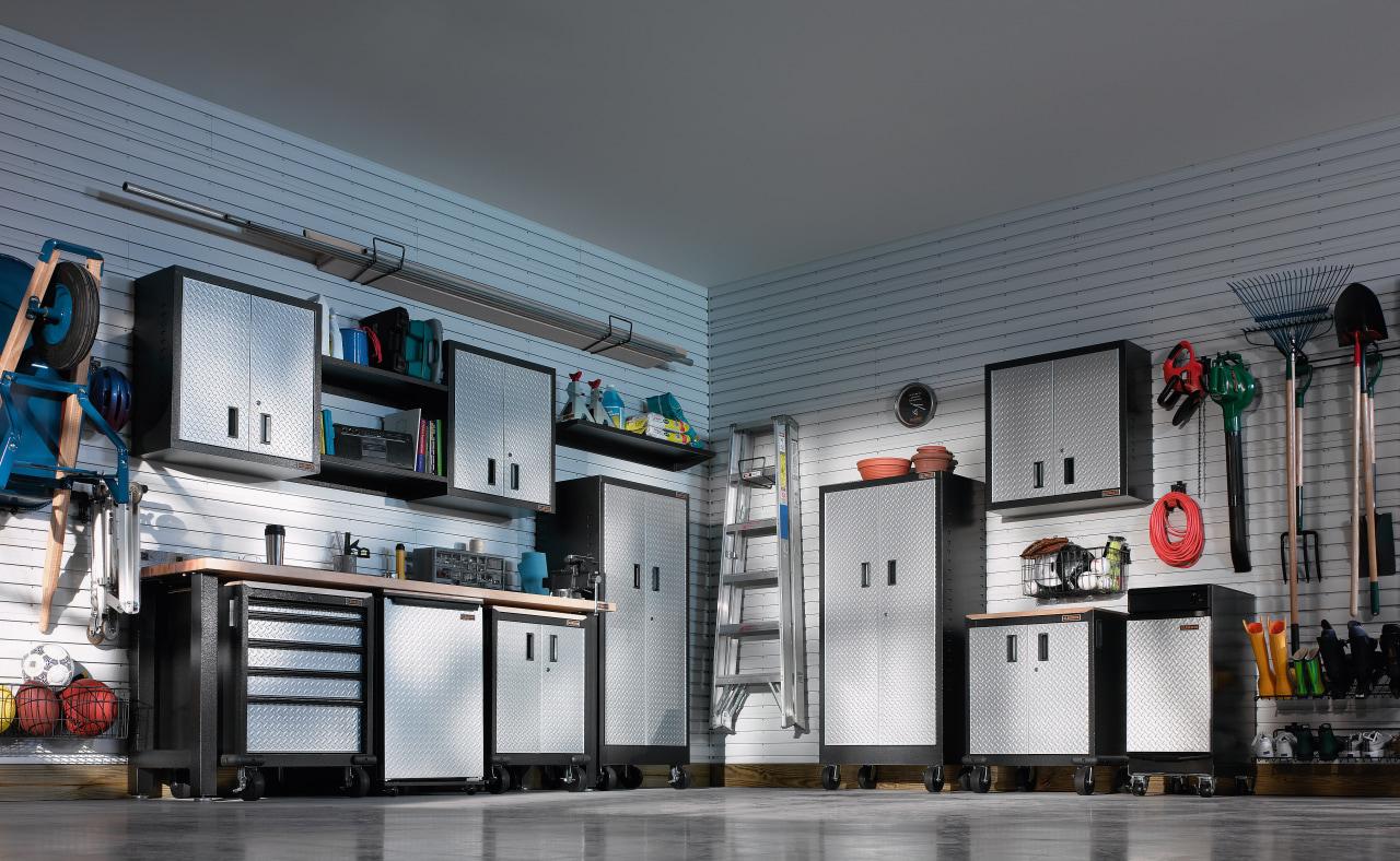 View of the garage storage showroom gray