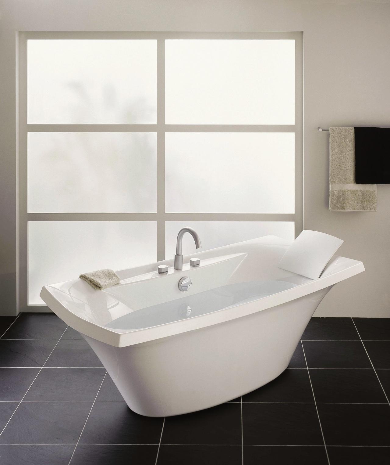 View of this bathroom angle, bathroom, bathroom accessory, bathroom cabinet, bathroom sink, bathtub, bidet, ceramic, interior design, plumbing fixture, product, product design, sink, tap, toilet seat, gray