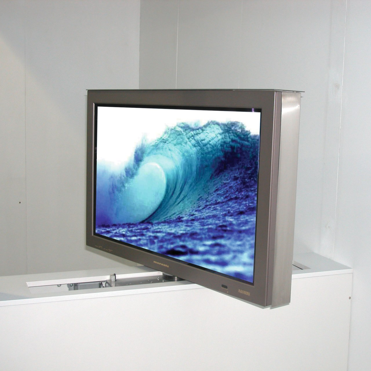 View of entertainment computer monitor, display device, flat panel display, glass, lcd tv, led backlit lcd display, media, multimedia, product design, screen, technology, television, television set, white