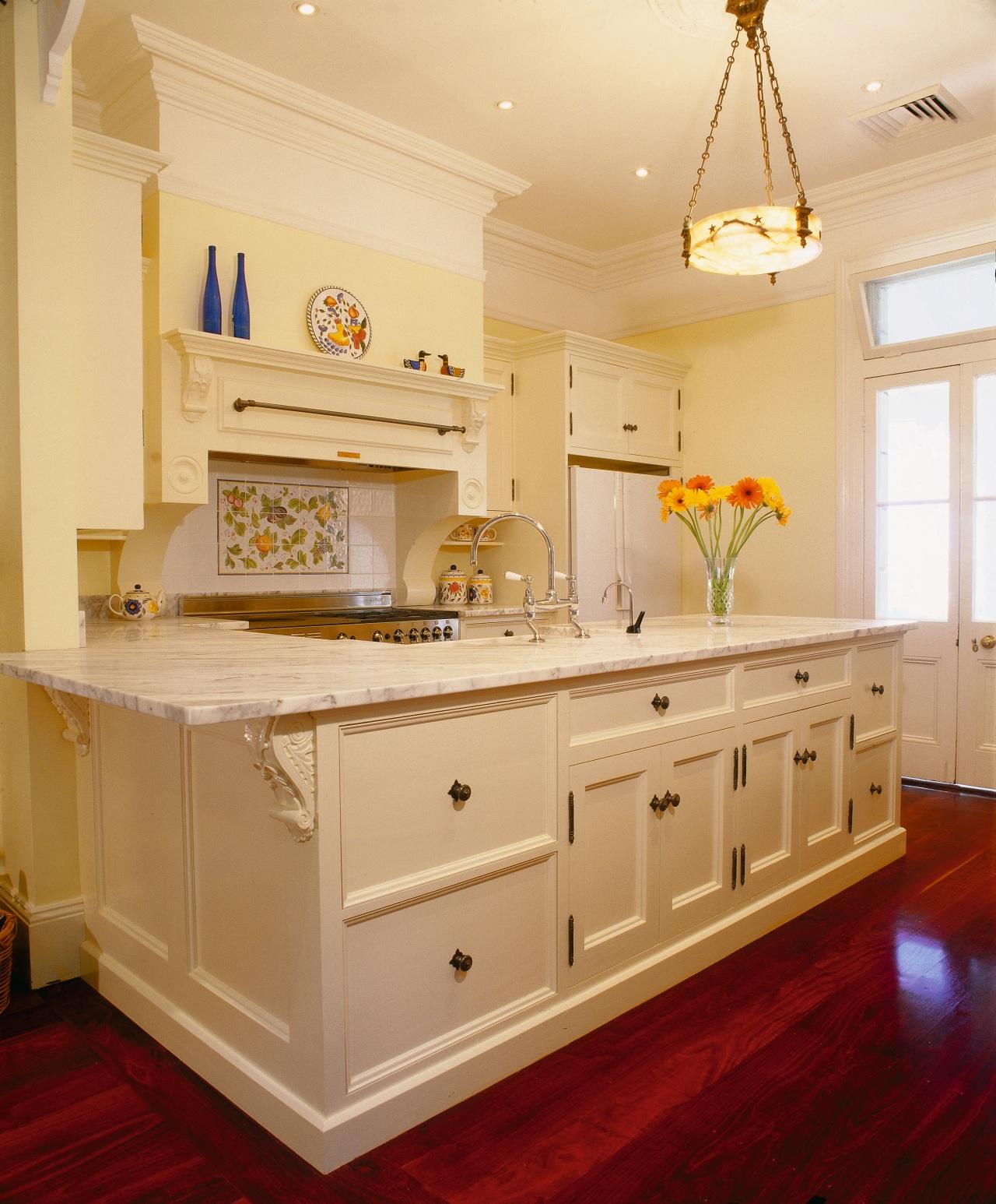 view of the one off custom designed kitchen cabinetry, ceiling, countertop, cuisine classique, floor, flooring, home, interior design, kitchen, room, sink, orange