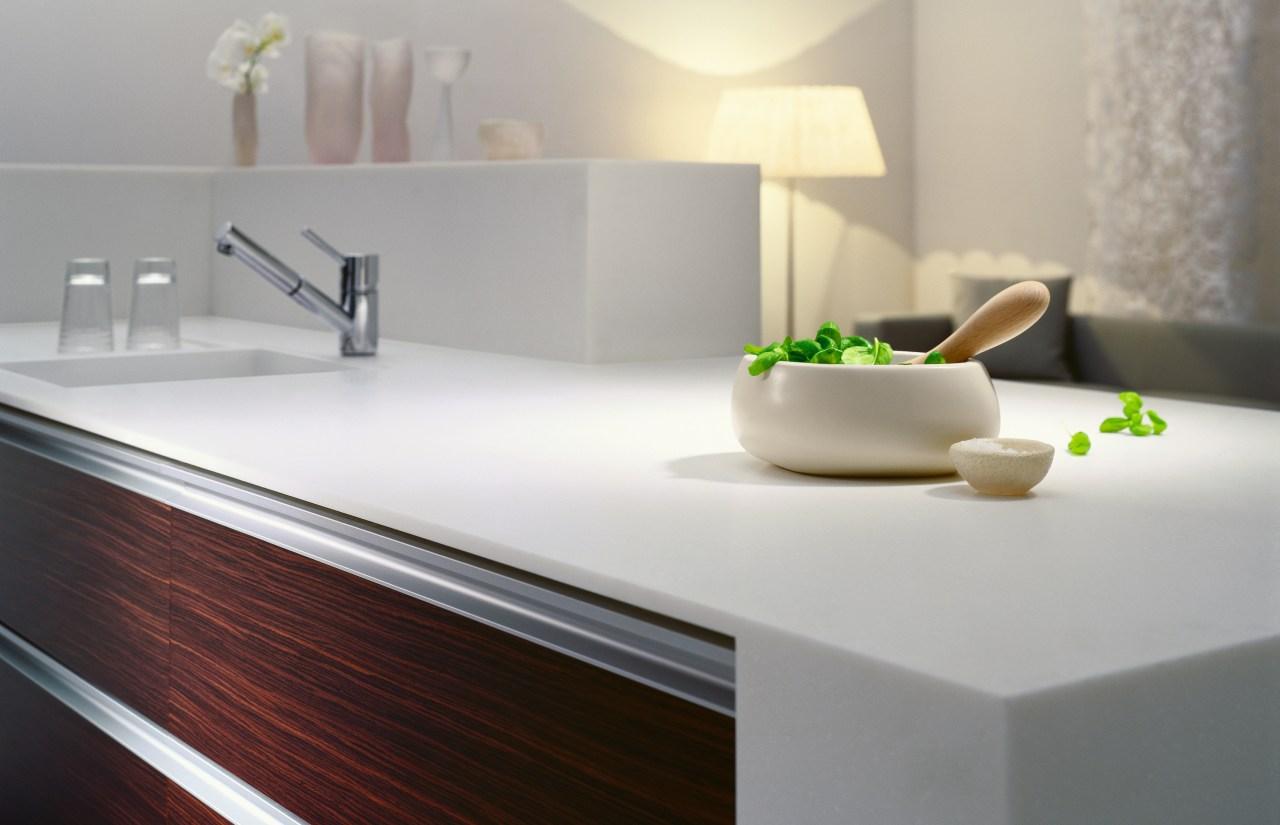 view of the freestyle benchtop bathroom, bathroom sink, countertop, floor, furniture, interior design, kitchen, product design, sink, table, tap, gray