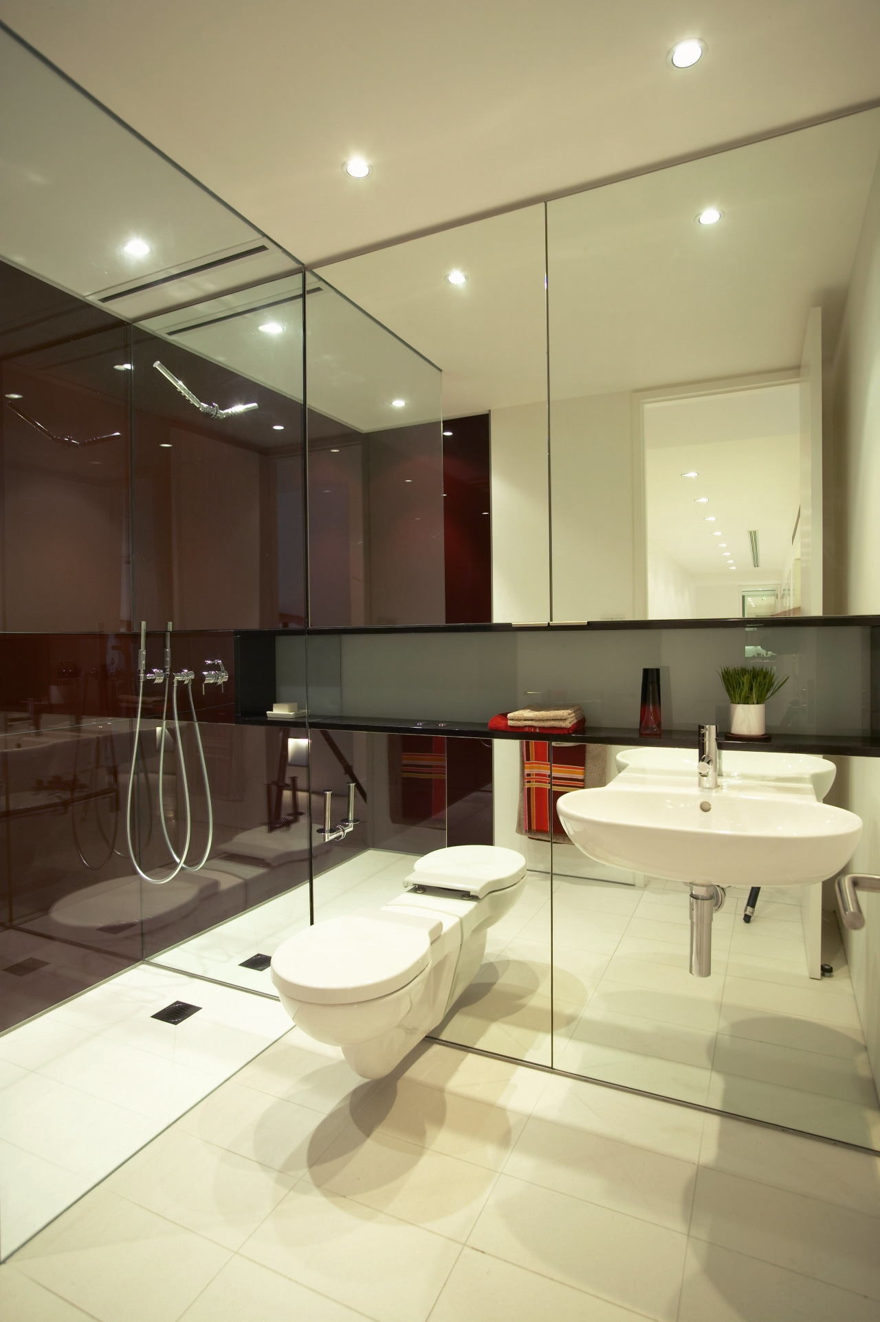 view of the hard wearing muscat white tiles architecture, bathroom, ceiling, floor, interior design, product design, room, sink, yellow, brown