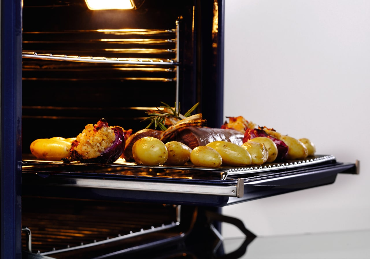 Examples of the new Fisher & Paykel technology food, produce, vegetable, black, white