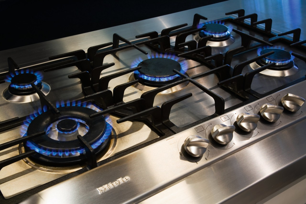 A view of a stainless kitchen by Steelfort electronics, product, black