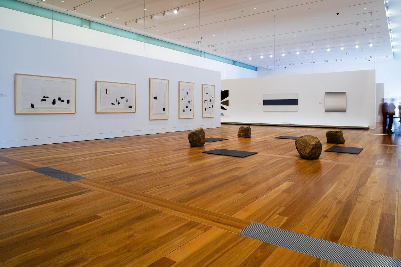 A view of some wooden flooring by Northern art gallery, exhibition, floor, flooring, hardwood, interior design, laminate flooring, museum, tourist attraction, wood, wood flooring, gray, brown