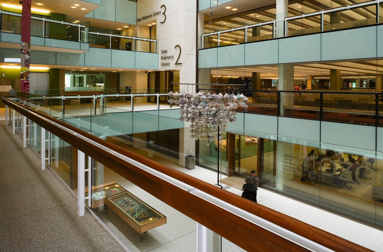 A view of some work done by Calty glass, interior design, tourist attraction, brown, gray