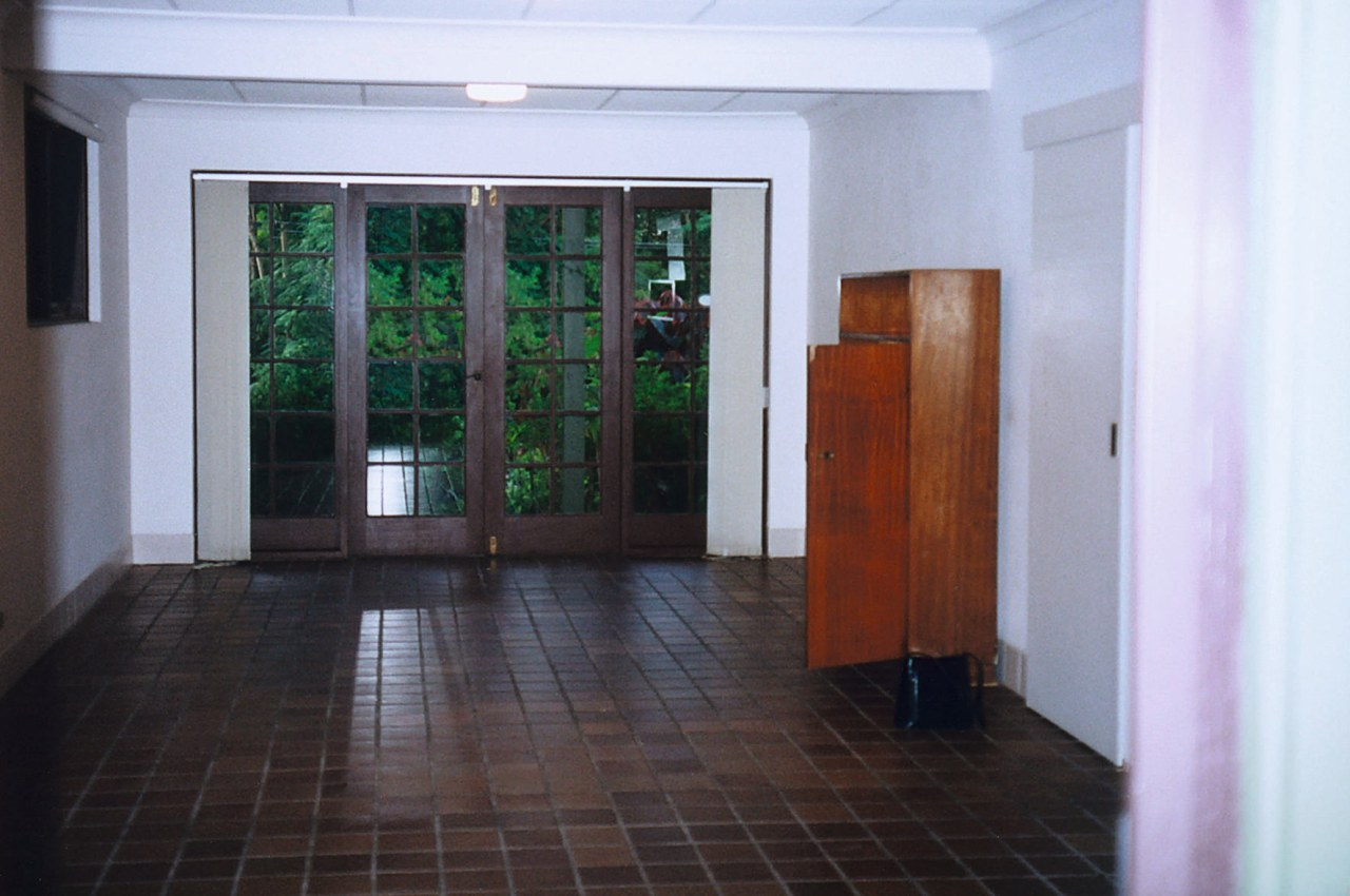 This room on the ground floor has been door, floor, flooring, lobby, property, real estate, white, black